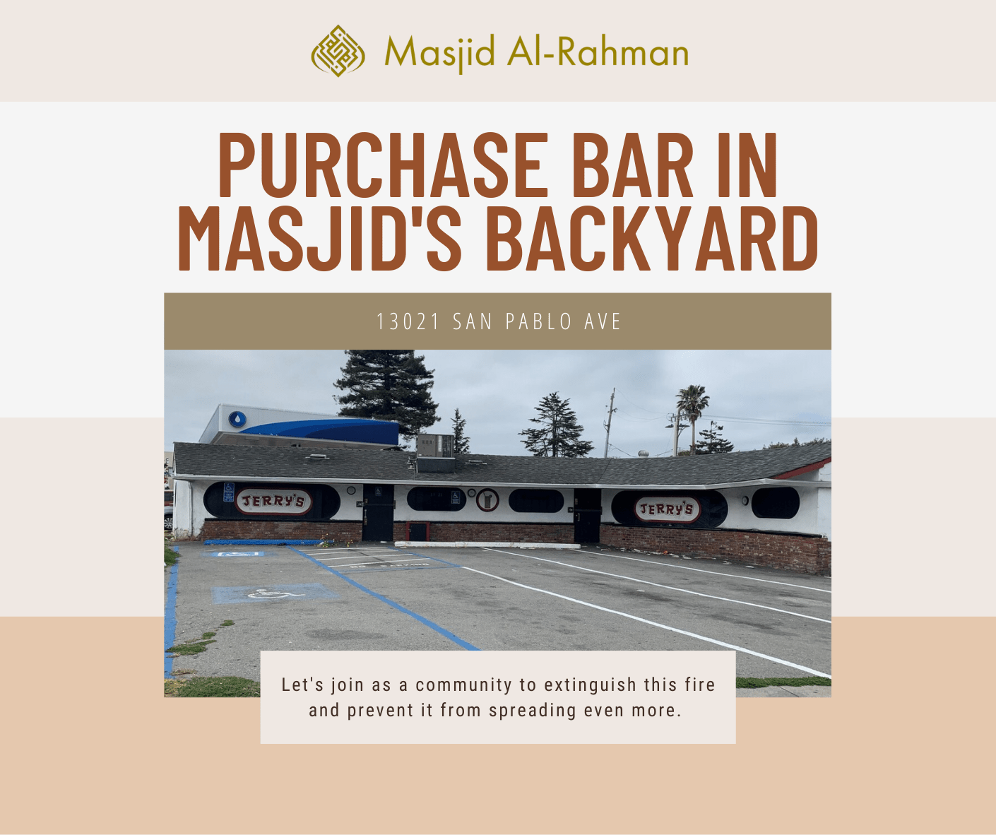 Masjid Al-Rahman Community Meeting - Property Purchase
