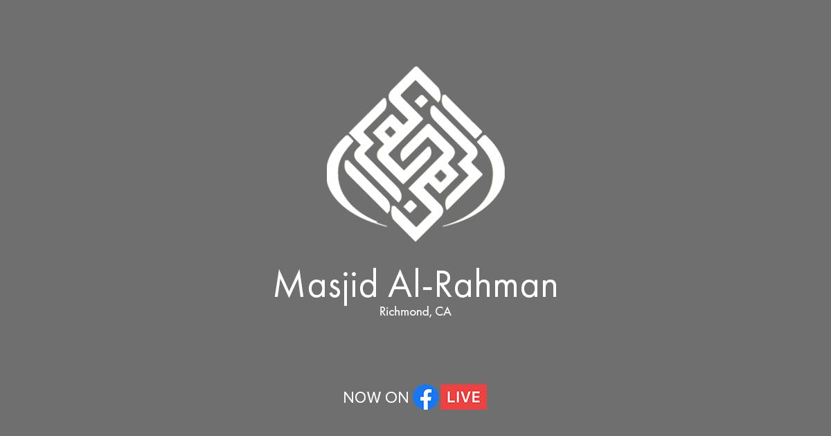 Masjid Events Now on Facebook LIVE