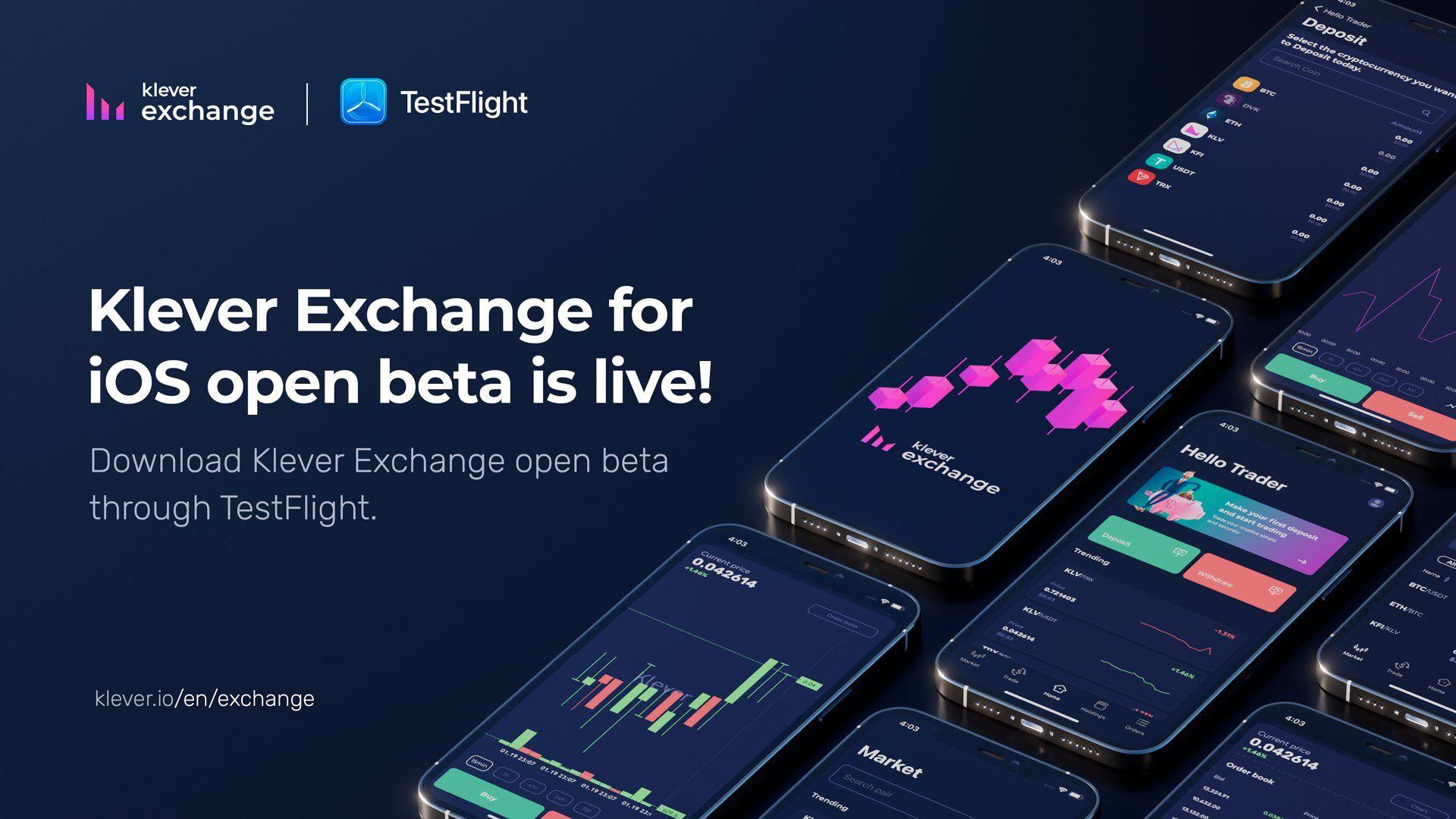 Klever Exchange iOS Open Beta