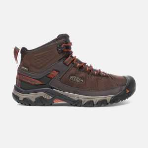 Keen Targhee EXP Mid Waterproof Walking Boots - Mulch/Burnt Ochre