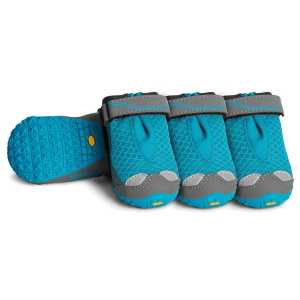 Ruffwear Grip Trex All Terrain Dog Paw Shoes 4 Pack - Blue Spring