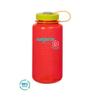 Nalgene Wide Mouth Sustain 32oz 1L Water Bottle - Pomegranate