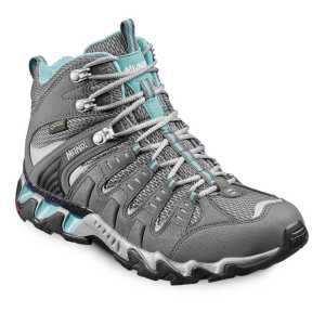 Meindl Womens Respond Mid GTX Walking Boots - Anthracite/Turquoise