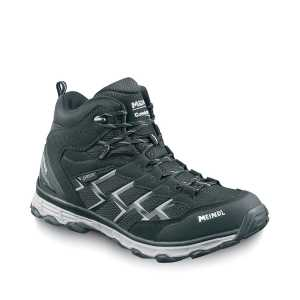 Meindl Activo Mid Wide Fit Walking Boots - Black/Silver