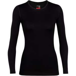 Icebreaker Womens 260 Tech Long Sleeve Crewe - Black