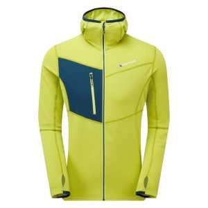 Montane Mens Alpine Raid Hoodie Fleece Jacket - Citrus Green
