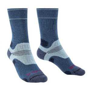 Bridgedale Womens Hike Midweight Merino Performance Socks - Blue/Sky
