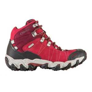 Oboz Womens Bridger Mid Waterproof Hiking Boots - Rio Red