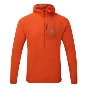 Mountain Equipment Solar Eclipse Hooded Zip-T - Cardinal Orange