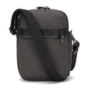 Pacsafe Metrosafe X Anti-Theft Vertical Recycled Crossbody Bag - Charcoal