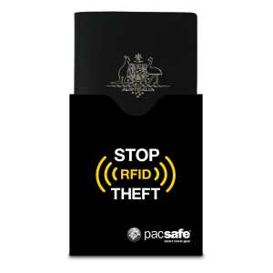 Pacsafe RFIDsleeve 50 RFID-Blocking Passport Protector - Black (Ex-Sample)