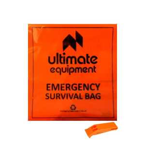 Ultimate Equipment Survival Bag Orange with Perry Whistle