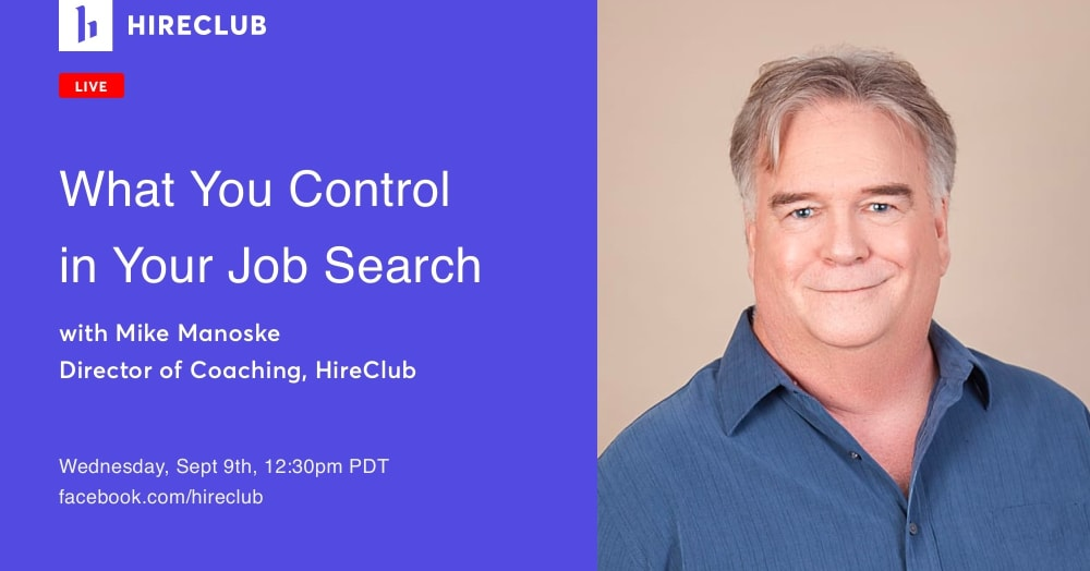What You Control in Your Job Search