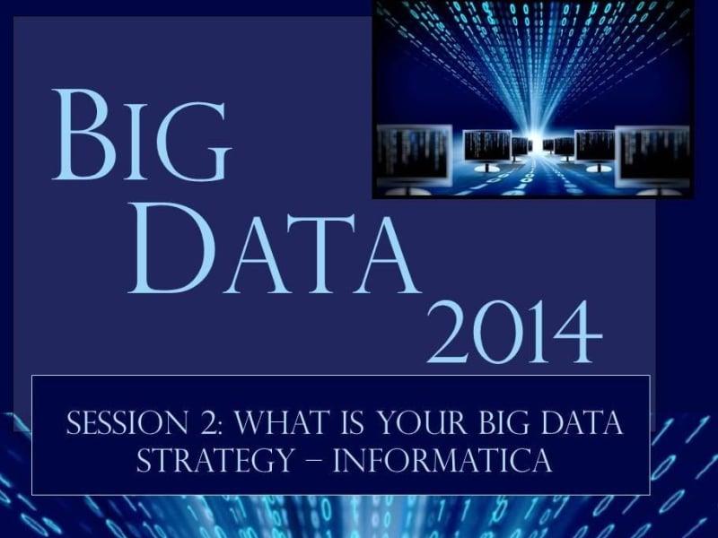 Big Data Forum 2014 - Managing Government Data (guest speaker)