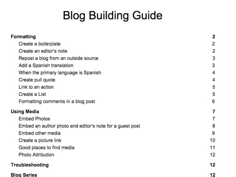 Blog Building Guide