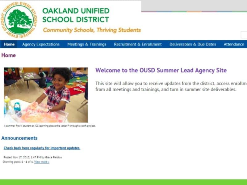 Summer Programs Website