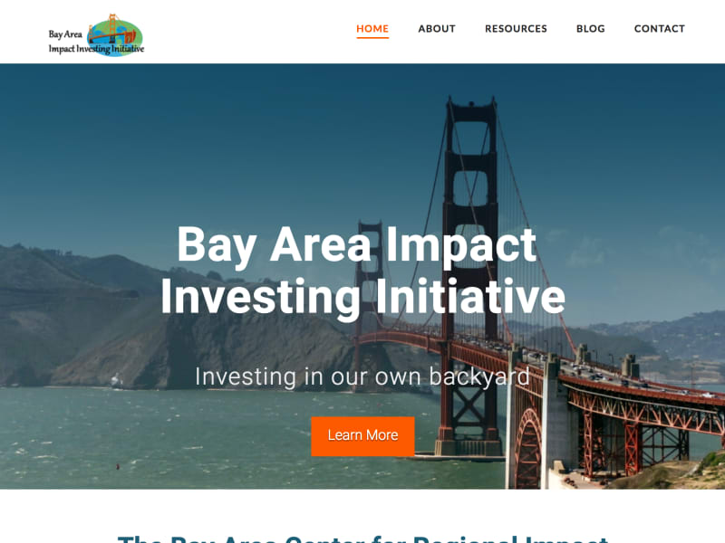Built Bay Area Impact Investing Initiative Marketing Operations