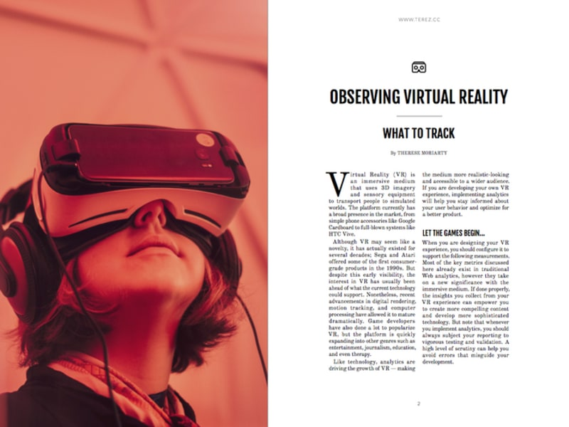 Observing Virtual Reality - What to Track