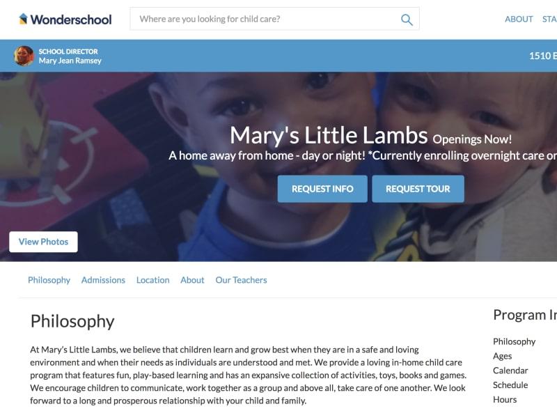 Wonderschool Public School Page