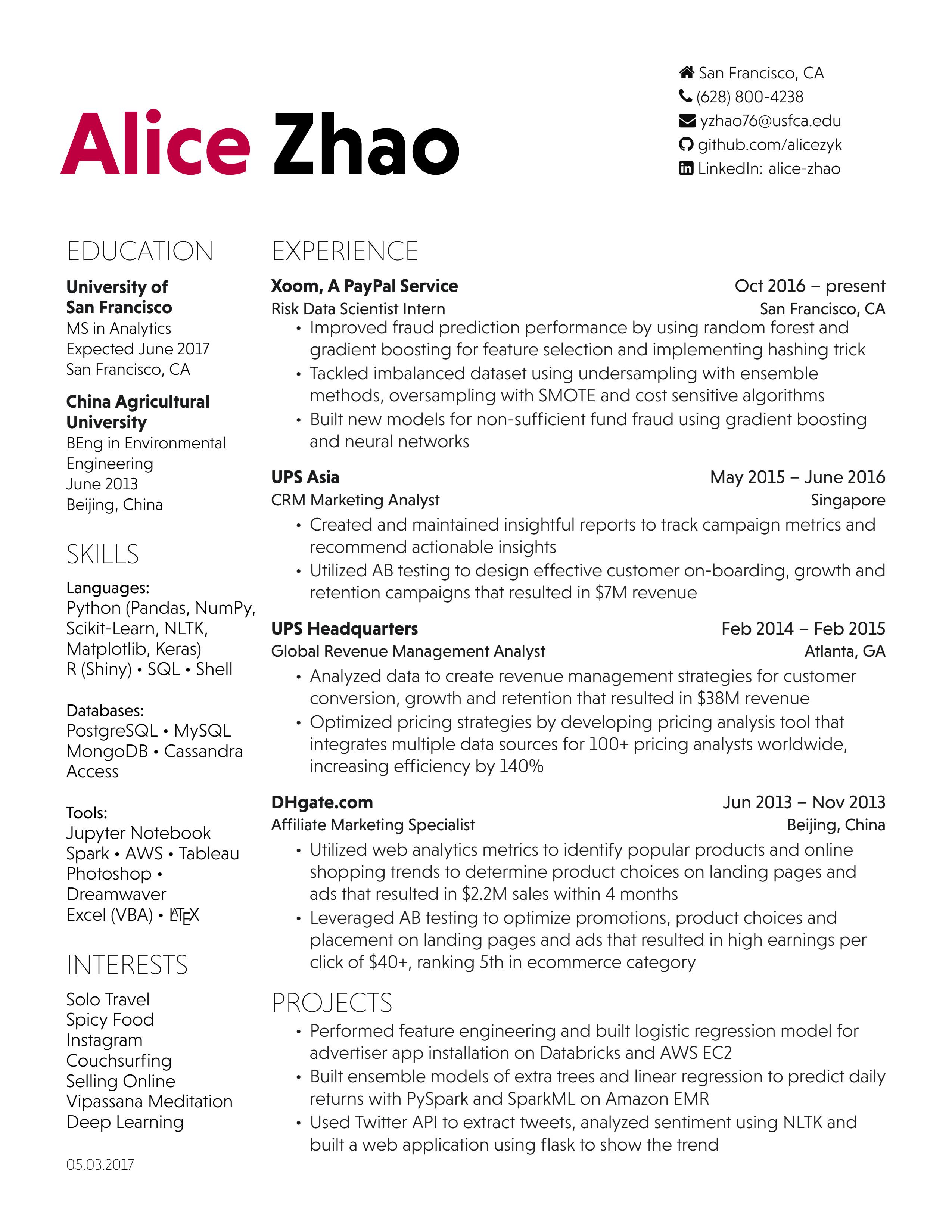 Alice Zhao   HireClub