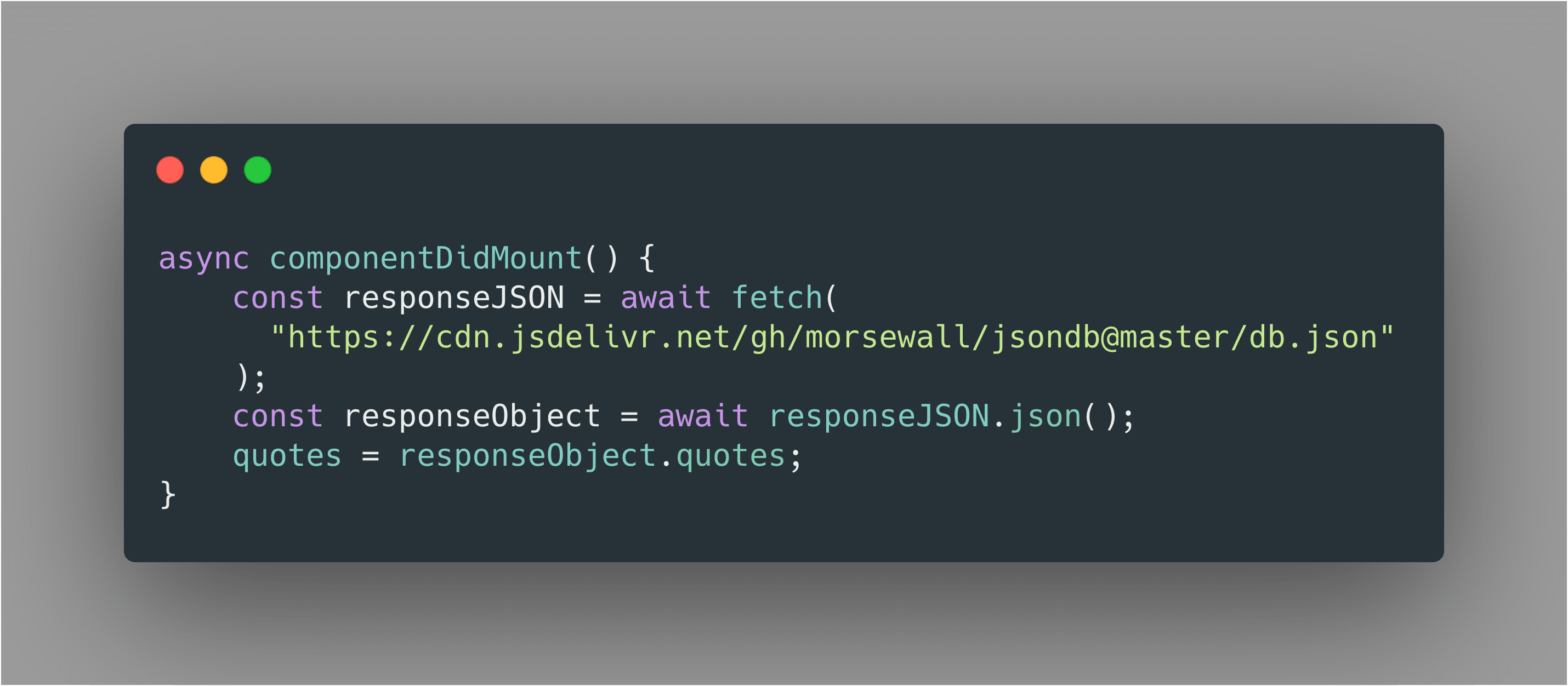 Random Quote – Part 7 – React and JSON: Using various front end stacks
