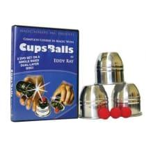 Cups & Balls Alum. W/DVD