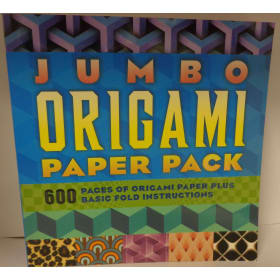 Jumbo Origami Paper Pack: 600 Pages of Origami Paper Plus Basic Fold Instructions