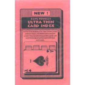 Ultra Thin Card Index