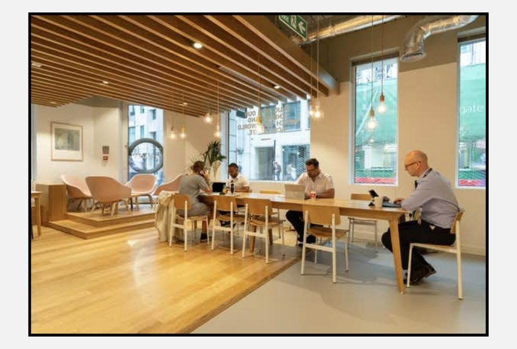 Spaces Moorgate, one of its 24 coworking spaces across London (image from Spaces)