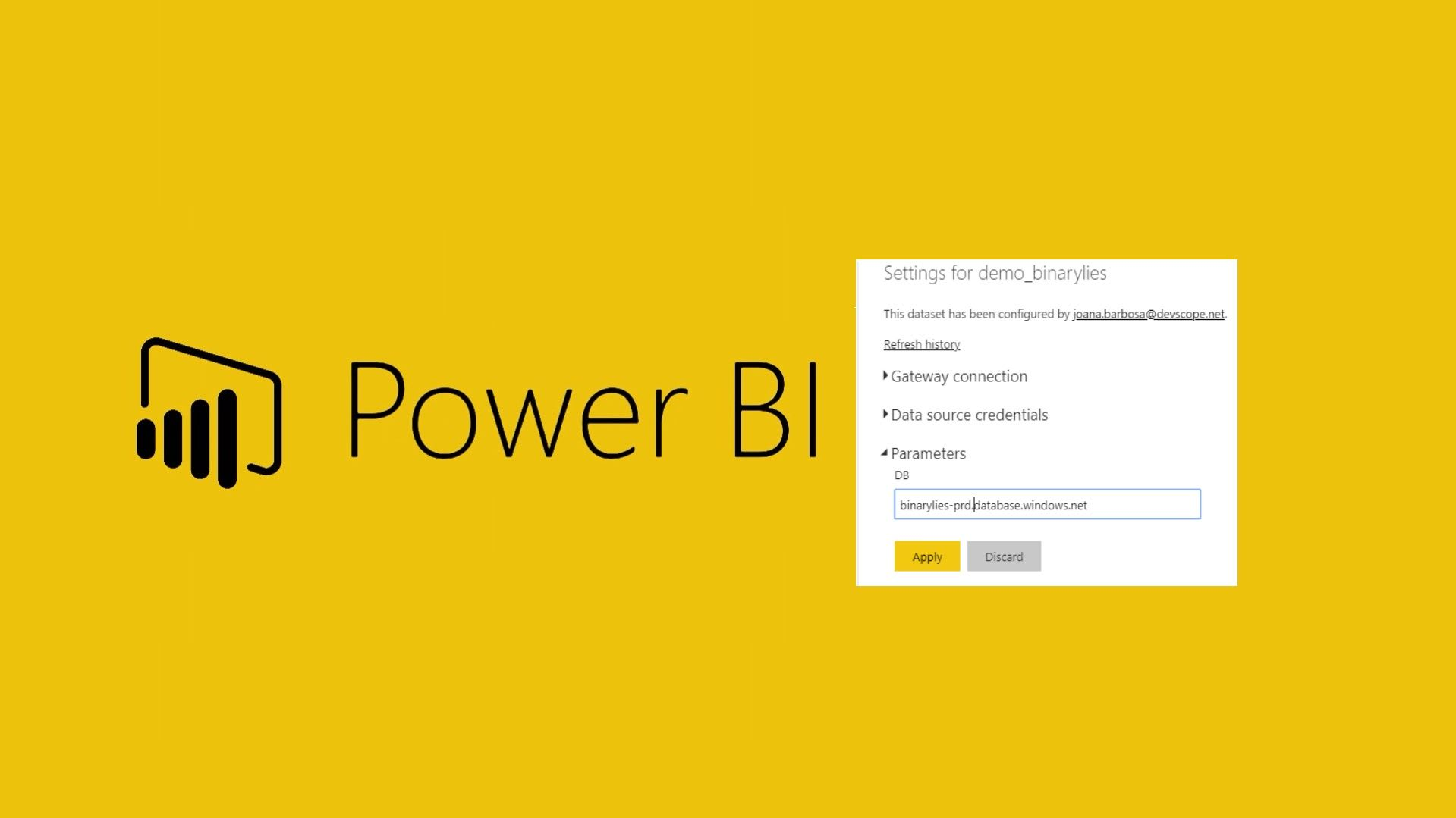 Change Power BI parameters & data source directly in PowerBI Service