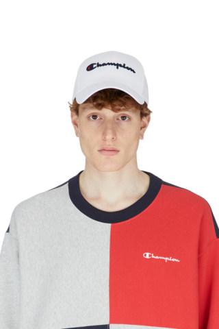 11e156d0 Champion: Heritage Logo T-Shirt - Script/Ripe Papaya Red   influenceu