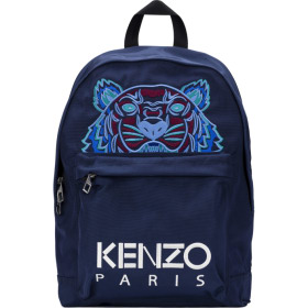 Kenzo  Large Tiger Canvas Backpack - Navy Blue   Influence U 6a8b1f5484e