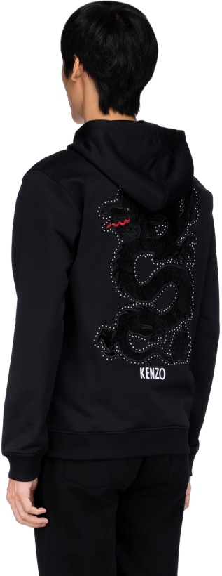 Capuche Veste À Dragon Kenzo Noir Glissière 1JKF3Tcl
