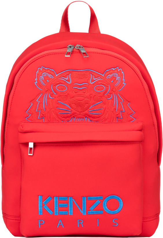 f0edb4ebee Kenzo: Large Neoprene Tiger Backpack - Medium Red | influenceu