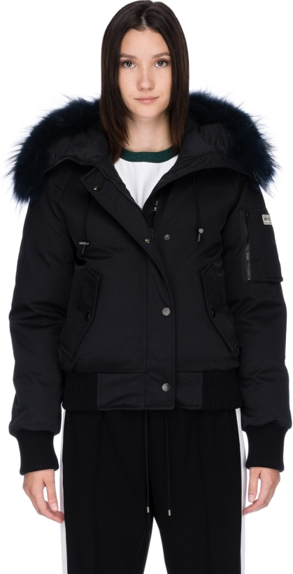 51277a048c56 Kenzo  Puffa Short Fur Bomber - Black Navy Blue