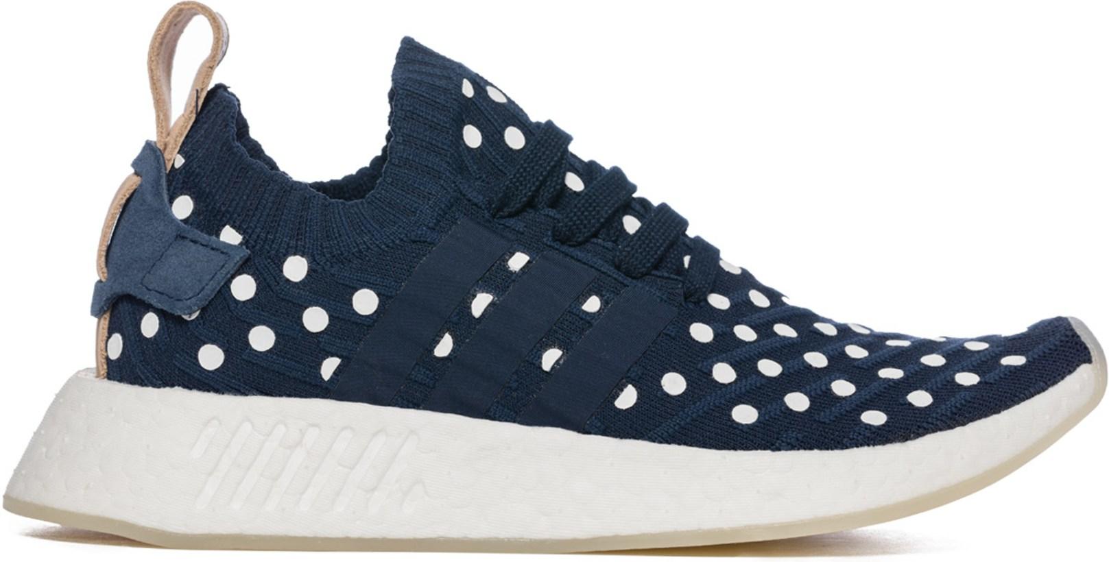 7d3b3a217 NMD R2 Primeknit Sneakers - Core Navy White Tan