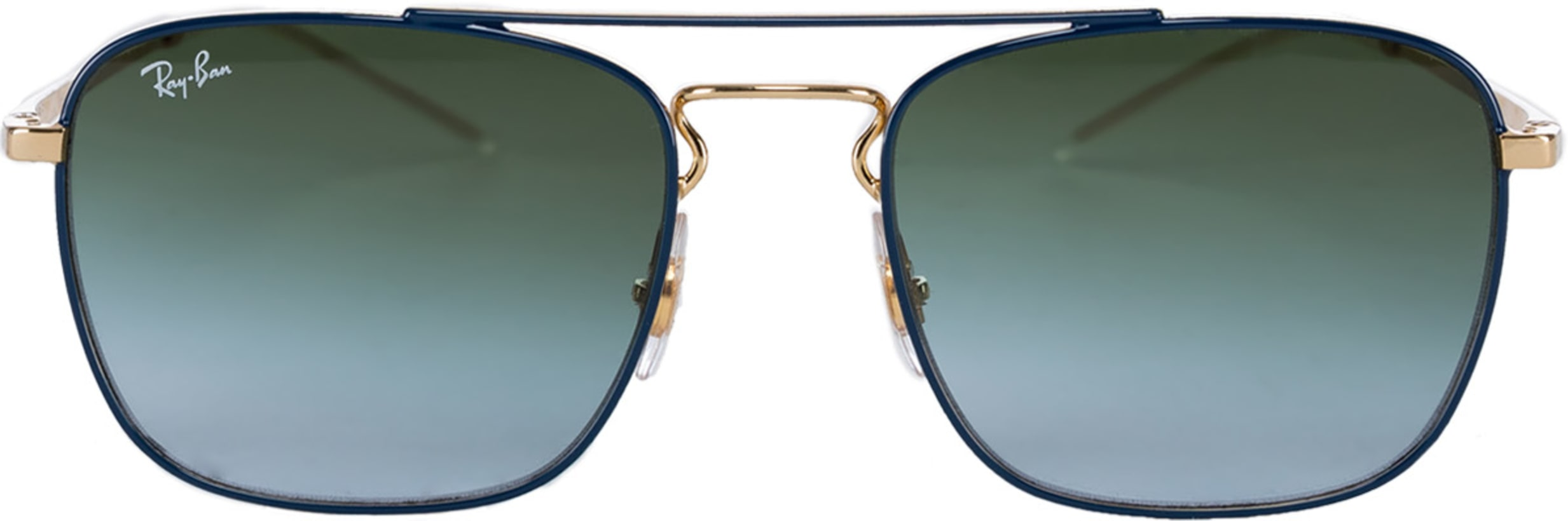 997ca93a4 Ray-Ban: Square Gradient Sunglasses - Blue Gold/Green Gradient ...