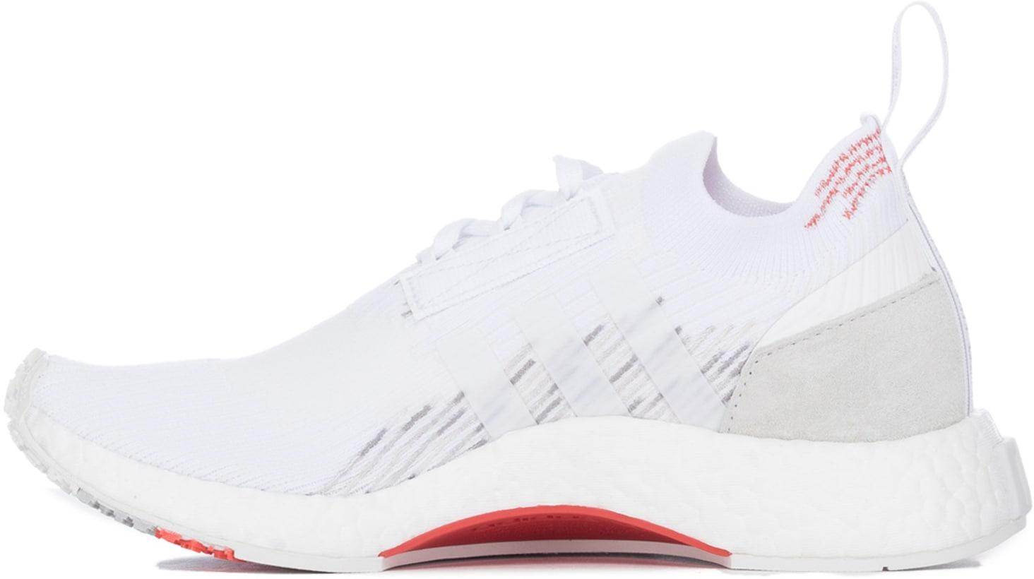2bf0a3f92e1d53 adidas Originals  NMD Racer Primeknit - White White Trace Scarlet ...