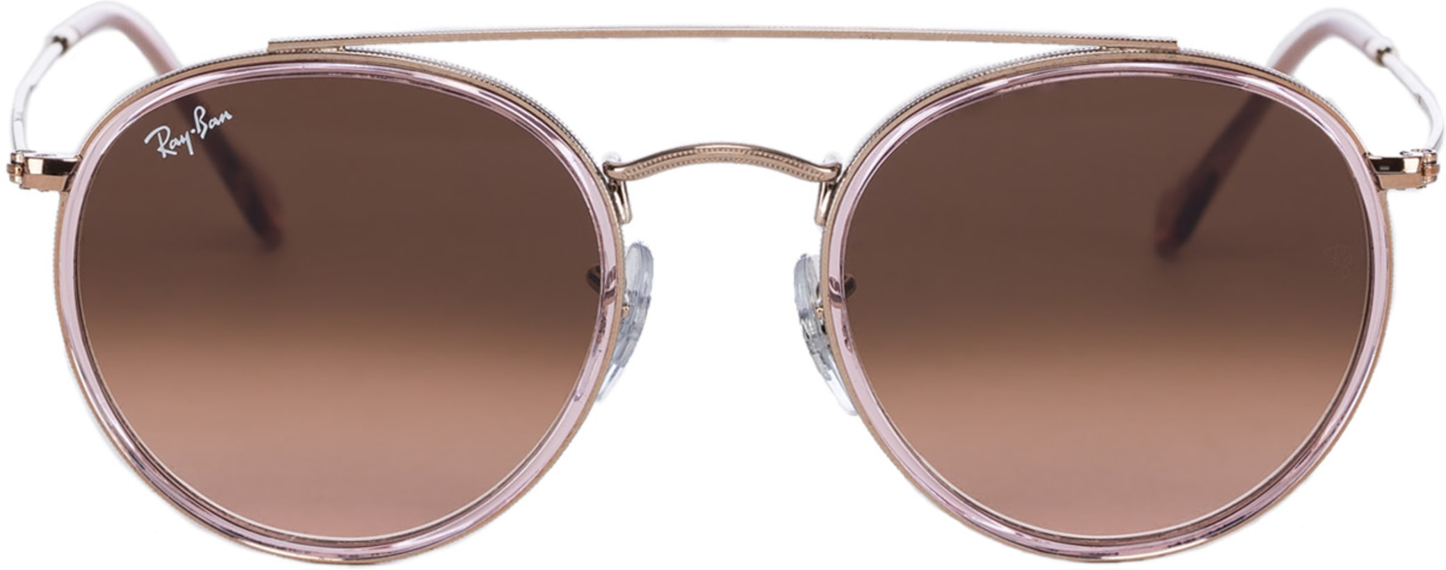 3ba56fb253 Ray-Ban. Round Double Bridge Sunglasses - Pink Bronze Copper Brown Gradient