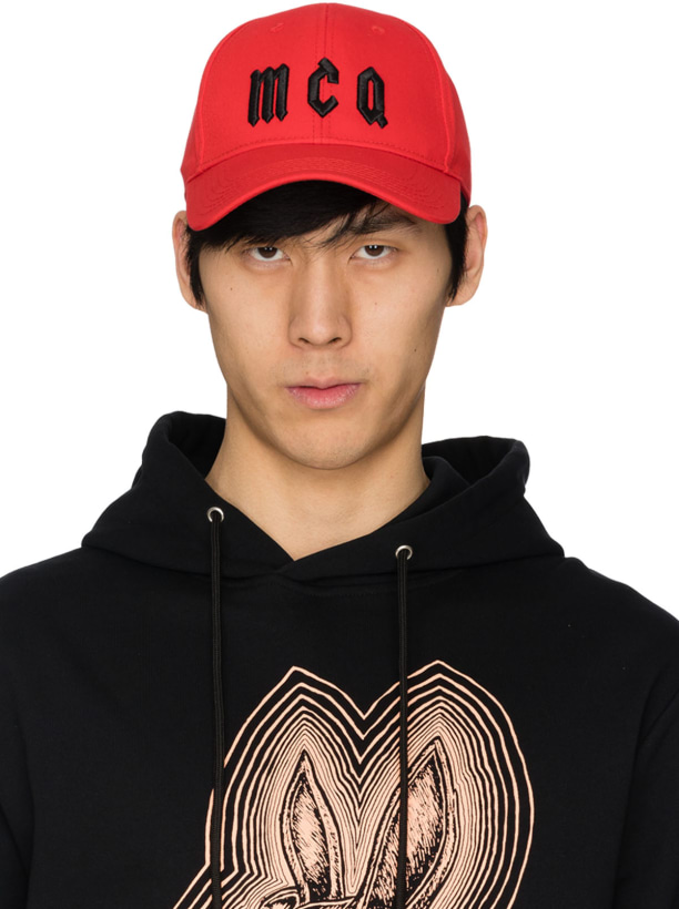 c8f78ce7762 McQ Alexander McQueen  Logo Baseball Cap - Red Black