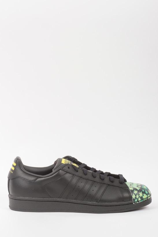 6d9f4f2b0 Pharrell Supershell Superstar Sneakers - Core Black Yellow Green ...