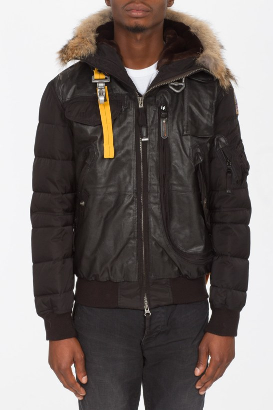 437ea56c5 Parajumpers - Grizzly Leather Bomber - Black