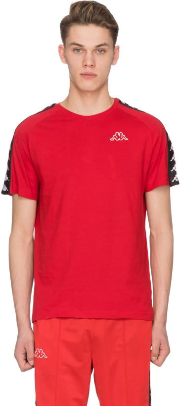 c125bd88 Kappa: 222 Banda Coen Slim T-Shirt - Dark Red/Black | influenceu