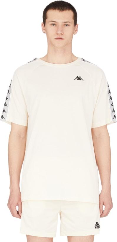 a7f037696e Kappa - 222 Banda Coen T-Shirt - Beige/Grey Silver/Black