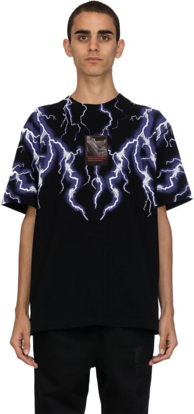 28e97d8c Alexander Wang: Lightning Collage Short Sleeve T-Shirt - Black/White ...