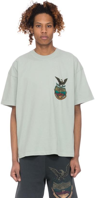 cbd5a2a0 YEEZY: Calabasas T-Shirt - Hospital Blue   influenceu