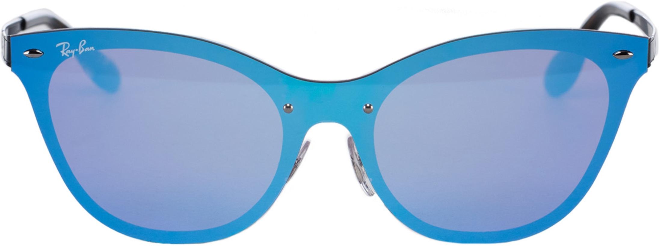 9e2fccae8 Ray-Ban: Blaze Cat Eye Sunglasses - Black/Violet/Blue Mirror ...