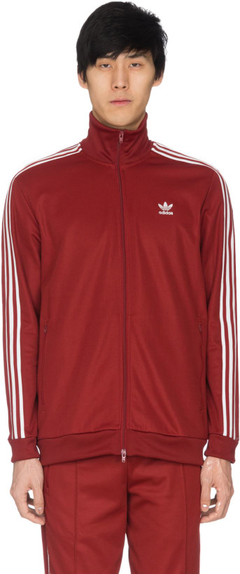 3bd1a24e3444 adidas Originals  Beckenbauer Track Jacket - Rust Red
