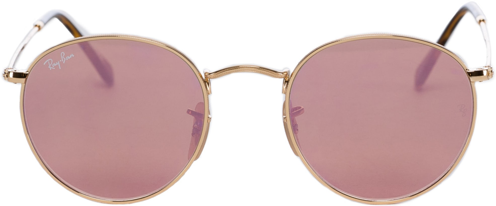 3666f459d6 Ray-Ban - Round Flat Lens Sunglasses - Gold Copper Flash