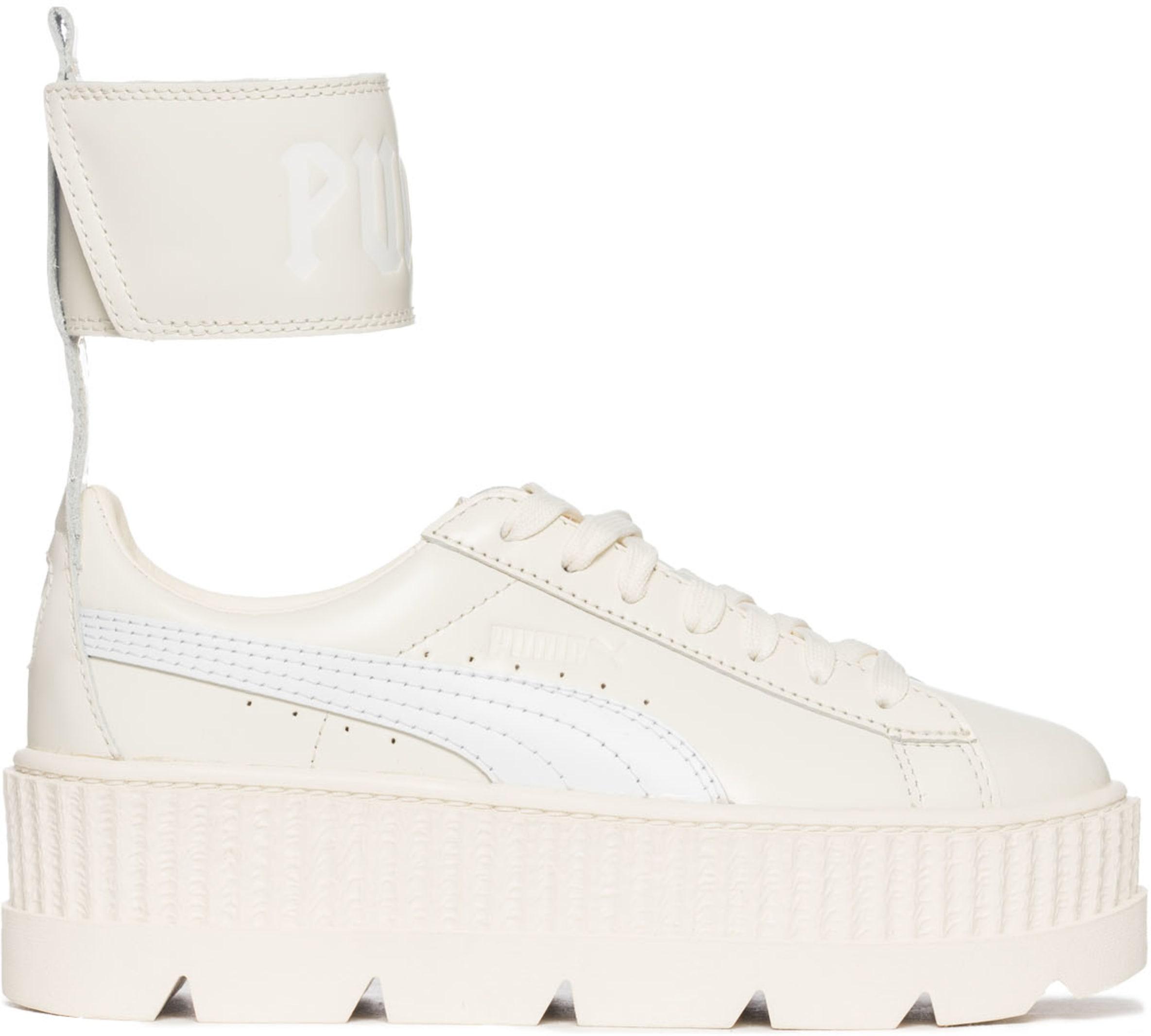 huge discount 682a2 10f9c Puma - Fenty Ankle Strap Creeper - Vanilla Ice/White